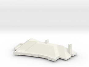 MV's house, roof, v2 in White Natural Versatile Plastic