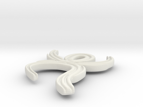 Bev Necklace in White Natural Versatile Plastic