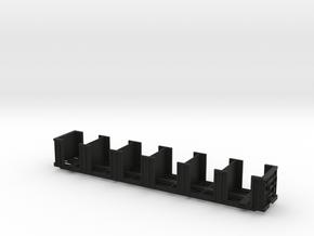 120652 tie bulkhead flatcar in Black Natural Versatile Plastic