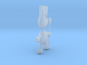 Chef pendant charm in Smooth Fine Detail Plastic