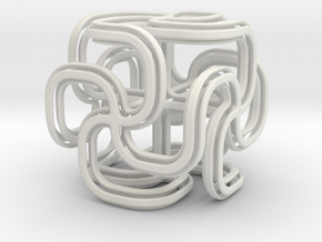 Crusty spiral cross cube in White Strong & Flexible