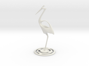 Fishing stork in White Natural Versatile Plastic