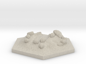 Catan_sheep_hexagon in Natural Sandstone