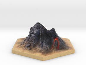 Catan_volcano_hex in Full Color Sandstone