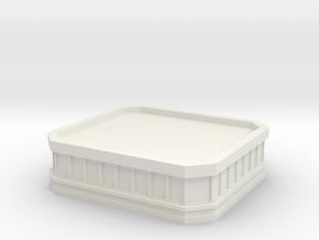 Tower Top Plain in White Natural Versatile Plastic