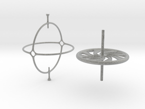 Classic Gyroscope in Metallic Plastic