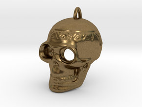 Pendant Skull (with pendant ring) in Natural Bronze