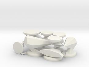 Oolite Ship Miniatures in White Natural Versatile Plastic
