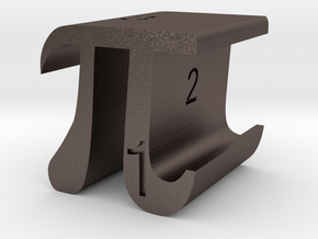PI D6 in Polished Bronzed Silver Steel