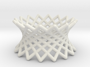 040: ruled hyperboloid in White Natural Versatile Plastic
