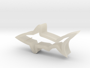 Shark shaped cookie cutter in White Acrylic