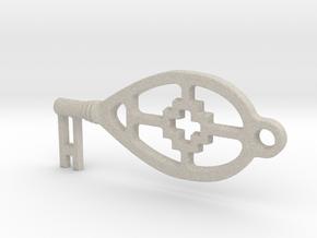 sleutel in Natural Sandstone