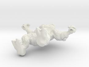 Mindless Rock Monster 4 in White Natural Versatile Plastic