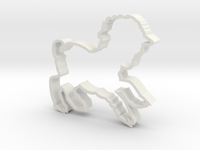 Large Lamb Cookie Cutter in White Strong & Flexible