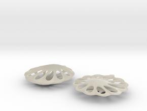 earrings 13 in White Acrylic
