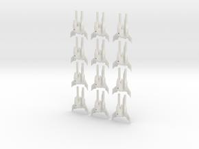 Tripple stinger fleet set in White Strong & Flexible
