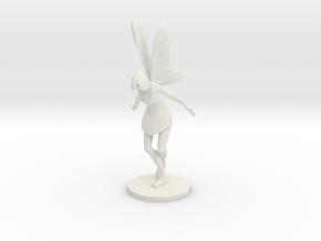 Fairy Figurine in White Natural Versatile Plastic