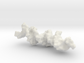 DNA Solvent Surface Render in White Strong & Flexible