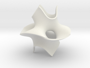 Cube bounded isosurface in White Natural Versatile Plastic