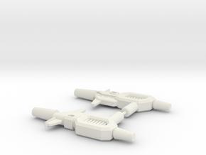 Kup Pistols (pair) in White Natural Versatile Plastic