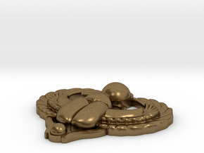 Scarab Pendant in Natural Bronze