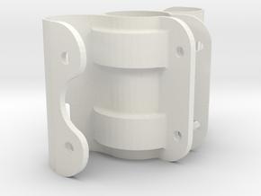 Bearing bracket in White Natural Versatile Plastic