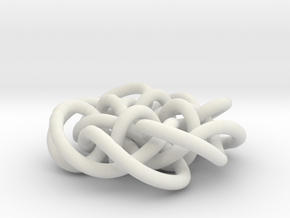 Prime Knot d4.122 30% bigger in White Natural Versatile Plastic