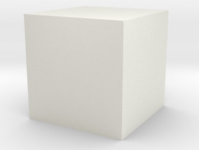 testcube in White Natural Versatile Plastic