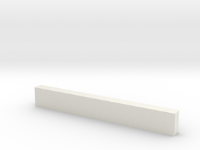 "8'6"" Wooden Crossbeam in White Natural Versatile Plastic"