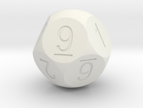 D10 5-fold Sphere Dice in White Strong & Flexible