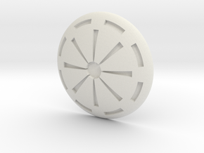 Republic Button in White Natural Versatile Plastic