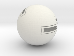 cross globe 1 in White Natural Versatile Plastic