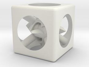 Point Reader D6 in White Natural Versatile Plastic