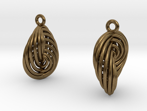 Running in Circles - Earrings (S) in Raw Bronze