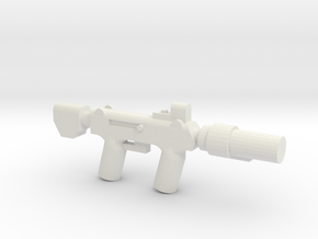 Silenced SMG in White Natural Versatile Plastic