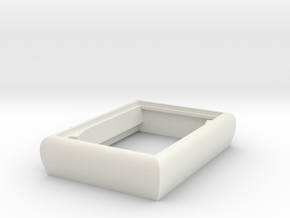 TopCaseBevel in White Natural Versatile Plastic