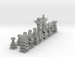 Typographical Chess Set in Metallic Plastic
