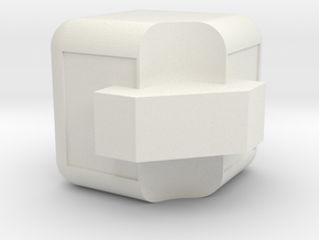 3x3x3 Edge Piece in White Natural Versatile Plastic