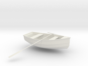 Rowboat in White Natural Versatile Plastic