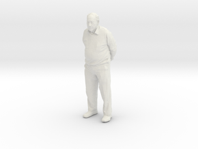 Grandpa 10cm Solid in White Natural Versatile Plastic