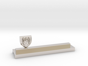 Knife holder with shield and coat of arms in Platinum