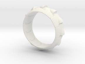 Armor Ring (Simple style) in White Natural Versatile Plastic