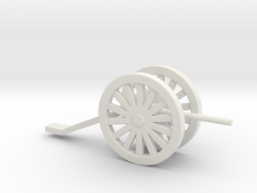 Artillery Game Piece in White Natural Versatile Plastic