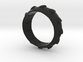 Armor Ring (Simple style) in Black Strong & Flexible