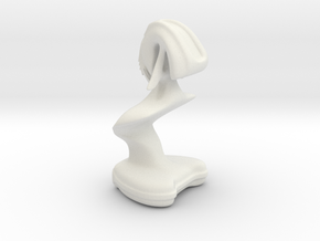 Alien Bust in White Natural Versatile Plastic