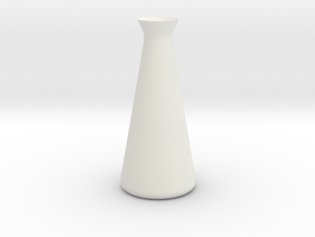 Designer Vase in White Natural Versatile Plastic