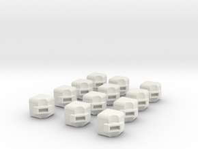 Rubik's Cube Edges in White Natural Versatile Plastic