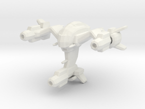Wraith space fighter in White Strong & Flexible