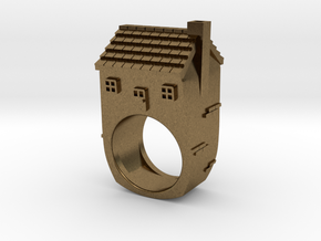 House Ring in Natural Bronze