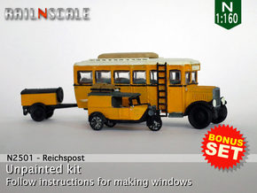 BONUS SET Reichspost (N 1:160) in Smooth Fine Detail Plastic